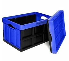 Clever Crates Really Useful Boxes Blue 46 Litre Collapsible Storage With a M
