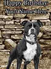 Staffordshire Bull Terrier A5 Personnalisé Carte de vœux anniversaire PID277 chien