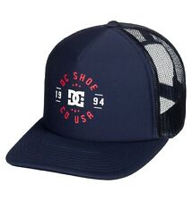 DC SHOES MENS TRUCKER CAP.NEW VESTED UP TAG TEAM NAVY BLUE BASEBALL HAT 9W 7BT