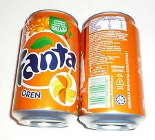 FANTA Can MALAYSIA 330ml ORANGE Flavour  Coca Cola 2011 Asia NEW PROMOTION