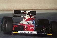 9x6 fotografia Aguri SUZUKI F1 Zakspeed-YAMAHA 891 Spanish GP JEREZ 1989