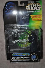 STAR WARS POWER OF THE FORCE ELECTRONIC EMPEROR PALPATINE W/ ENERGY BOLTS MOSC