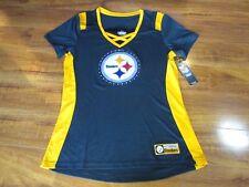 cdea29f52 NEW NFL Pittsburgh Steelers Majestic Draft Me Shirt Womens sz L Black  Yellow  55
