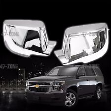 For 14-16 Escalade Tahoe Yukon Chrome ABS Plastic Full Mirror Cover Cap Trim