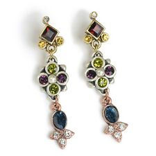NEW SWEET ROMANCE VICTORIAN STYLE CANTERBURY JEWEL PIERCED EARRINGS