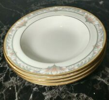 Noritake Barrymore rimmed soup bowls (4)