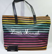 LITTLE MARCEL sac porté main 42.5x31x10 cm fond imprimé NEUF