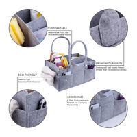 1pc Portable Baby Diaper Organizer Caddy Felt Tote Bag Foldable  Diaper Bag SALE