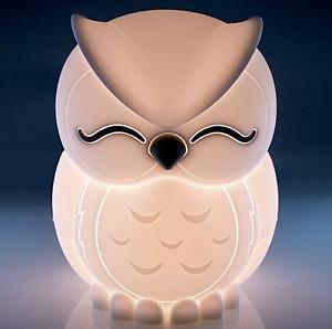 ~❤️~SLEEPING OWL NIGHT LIGHT Bird Rechargeable USB Soft/Cool touch LED BNIB~❤️