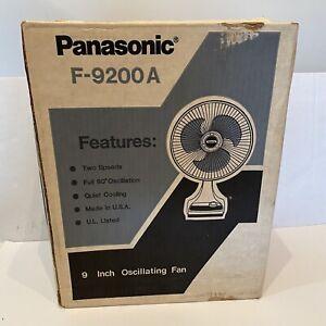 Vintage Panasonic F-9200A Oscillating Fan 2 Speeds Brand New Factory Sealed!