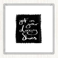 Blanco Negro obtener en su cotización de Zapatos de baile bebidas Mat Coaster