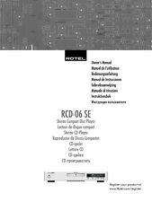 Rotel RCD-06SE CD Player Owners Instruction Manual