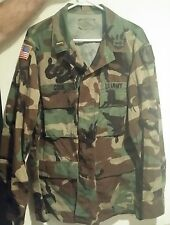 Men's U.S. Army Military Summer Weight BDU Shirt》L Reg Height 67-71 Chest 41-45