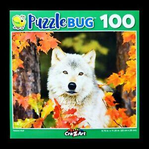 100 Piece Jigsaw Puzzle Puzzlebug Cra-Z-Art 9 in x 11 in, Autumn Wolf