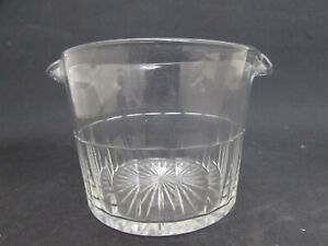 Antique Hand Blown Glass Wine Rinser, Double Spouted Glass Bowl