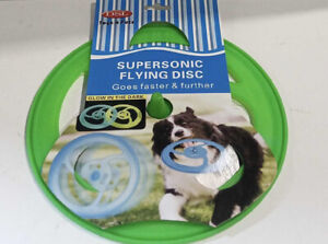 DOG FRISBEE  GLOW IN THE DARK OUTDOOR TRAINING INTERACTIVE FLYING DISC TOY PLAY