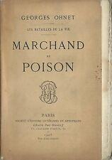 RARE EO N° SUR HOLLANDE GEORGES OHNET : MARCHAND DE POISON ( ALCOOLISME )