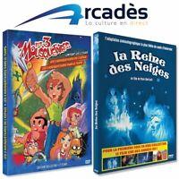 pack Noel 2 Dvd LA REINE DES NEIGES / LES 3 MOUSQUETAIRES DE L'ESPACE annees 80