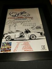 The Doors Full Circle Rare Original Tour Promo Poster Ad Framed!