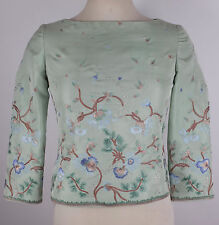 Vintage Oscar de la Renta sz 6 hand embroidered silk top blouse dress
