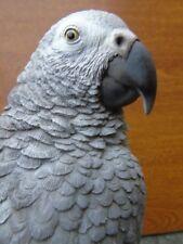 statue d un perroquet gris du gabon, effet naturel et relief ! nouveau !