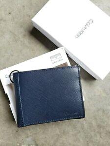 CALVIN KLEIN Men's Navy Billfold Wallet, RFID