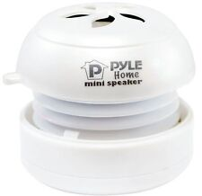 NEW Pyle PMS2W Bass Expanding Rechargeable Mini Speakers for iPod/MP3/Computer
