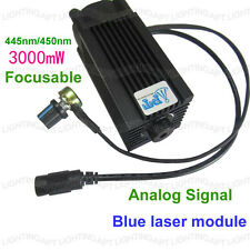 Analog Signal 445nm/450nm 3000mW/3W blue laser module 12V DIY CNC engraving