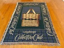 Longaberger Collector's Club 1999 Throw 69� X 47� Blanket Fringed Made in Usa
