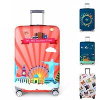 "18""-32"" Creative Travel Luggage Cover Dustproof Suitcase Protector Skin Case US"