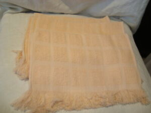 Lot of 10 Peach Towels Cotton Fingertip/Tea/Hand Towels