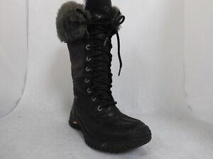 Ugg Black/Gray Leather Adirondack Tall Boot III Wmn's Sz 6 US
