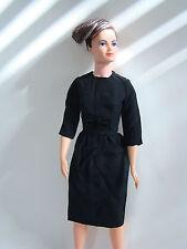 """Remco 14"""" Lisa Littlechap Little Black Crepe Lined Dress Velvet Bow NO DOLL"""