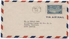 1940 Sapulpa OK China Clipper Airmail 25 cent to Venezuela [1502]