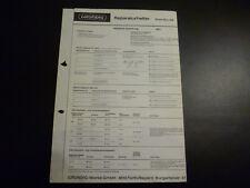 Original Service Manual Grundig Music Boy 208