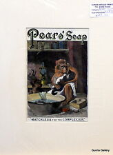 Original Vintage Advert mounted ready to frame Pears Soap Matchless c1895