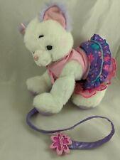 "Mattel Barbie White Fashion Cat Plush Talks Outfit Leash 9.5"" Stuffed Animal"