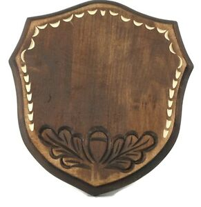 Wooden Trophy Shield Mounting Plaque For Wild Boar Tusks