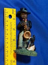 Youngs Inc Figure Jazzman Saxophone Black Americana Vtg Statue Monroe, Michigan