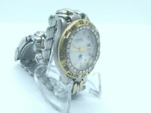 Fossil Blue Womens 28mm Watch, New Battery, Luminous hands, Rotating Bezel
