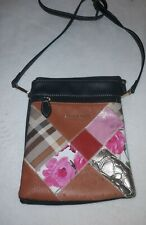 Vegan Leather Patchwork Crossbody Very roomy 4 storage partitions.