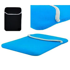 "Sky Blue Reversible 10"" Neoprene Sleeve Case For Apple iPad 1 and 2"