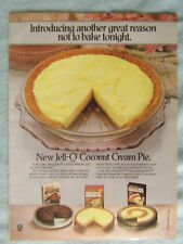 1985 Magazine Advertisement Ad Page Jell-O Coconut Cream Pie Chocolate Mousse