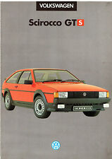 Volkswagen Scirocco GTS Limited Edition 1985 UK Market Sales Brochure