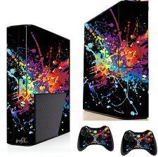 Pintura Splat sticker/skin Xbox 360e Consola Y Control Remoto xsk20