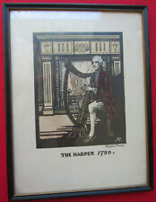 The Harper 1780 Cuala Press Hand Colored Framed Print Dublin Ireland