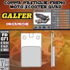 FD071G1054 PASTIGLIE FRENO GALFER ORGANICHE ANTERIORI ZUNDAPP KS 80 TOURING L, K