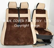 VW TRANSPORTER T5  VAN SEAT COVERS TOFFEE BROWN ALCANTARA