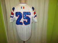 """Frankreich """"F.F.F."""" Adidas Freundschaft Spiel Trikot 1996 - 1998 + Nr.25 Gr.M"""