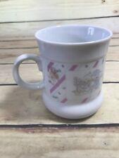 1989 Vtg Precious Moments Enesco Coffee Mug Cup Sharing Our Christmas Together